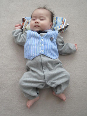 息子の寝姿