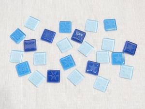 ガラスタイルブルー