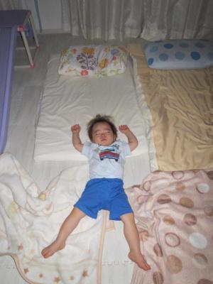 息子の寝相