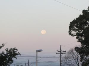 早朝の満月